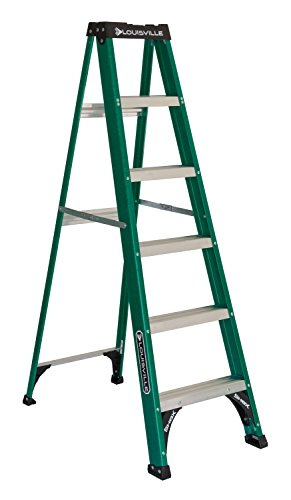 Louisville Ladder FS4006 Fiberglass Step Ladder, Type II, 6-Foot, 225-Pound Capacity (Aluminum Drill Pipe)