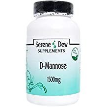 D-Mannose 1500mg 180 Capsules Gluten FREE 100% Natural. Serene Dew Supplements