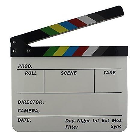ciak cinematografico  Leadasy Ciak Cinematografico Professionale Colorati 30 cm x 25 cm ...