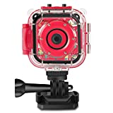 (Christmas Edtion) Prograce Kids Camera Underwater Waterproof Camera Camcorder for Kids for Boys