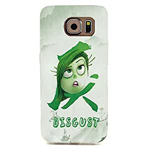 Samsung Galaxy S6 Edge Case Inside Out Phone Case Disgust Cartoon Anime Pop Back Of The Phone Protection Shell