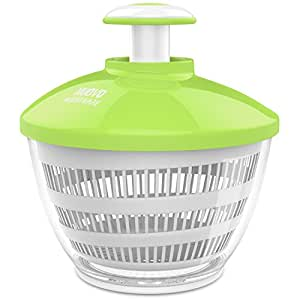 Nuovoware Salad Spinner with 3.6 Quart Large Bowl - White and Green