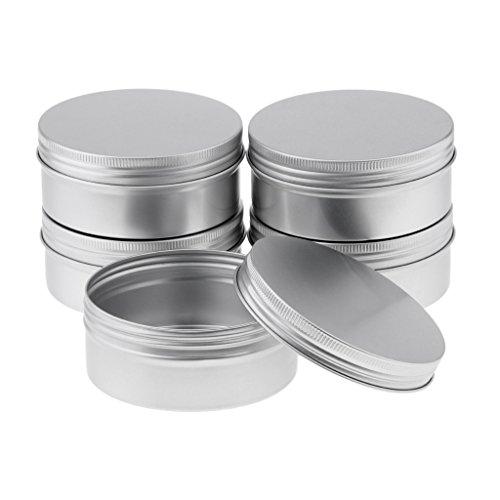 10pcs 25ml Aluminium Lip Balm Tin Pots Cosmetic Cream Jar Bottle Container - Silver, 250ml