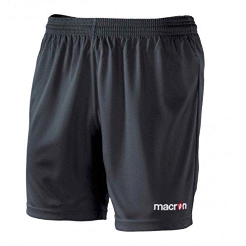 Bermuda Calcio Macron Corti Calzoncini Pantaloncini Nero Uomo Calcetto Da Mesa Shorts wPN8n0OkX