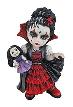 5.87 Inch Poly Stone Cosplay Kids Vampire Girl Holding A Vamp Doll