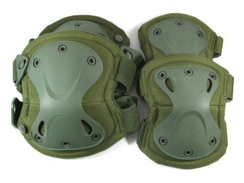 XTAK type SWAT elbow knee protector elbow pad kneepad Green (japan import) by Eco Ride
