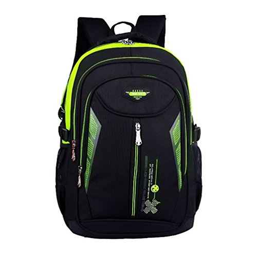 MATMO Waterproof School Bag Students Backpack Children Bookbags Green