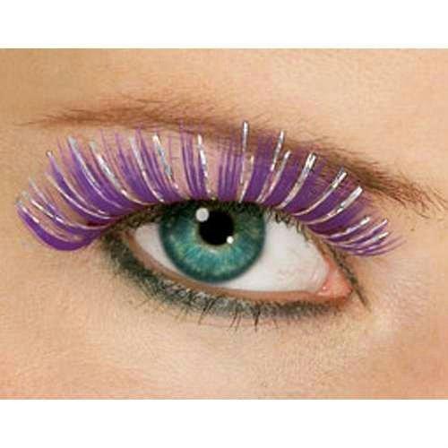 Rubie's Costume Co Hologram Eyelashes Costume, Purple, (Hologram Costumes)