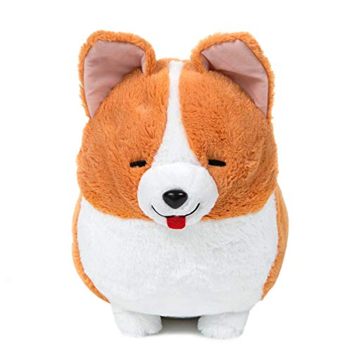 (Amuse Corgi Plush Doll Ichi Ni no Dog Corgi Stuffed Animal Happy Ichi White Big Size Plushie 14 Inches)