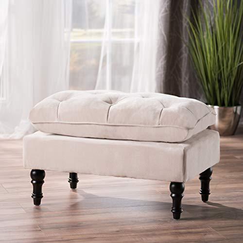 Cordoba Tufted Fabric Ottoman Footstool
