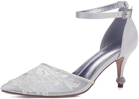 Seraph 17767a 2 Women S Wedding Shoes Kitten Heel Lace Applique