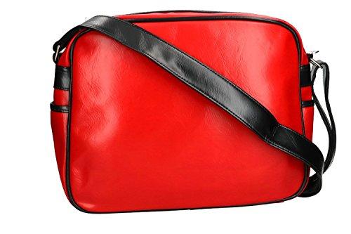 Ordnertasche herren GOLA tasche messenger rot mit umgehängt VF282