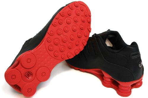 Nike Shox Nz Mens Scarpe Da Corsa [378341-000] Nero / Bianco / Rosso Scarpe Da Uomo 378341-000 Nero / Bianco / Rosso