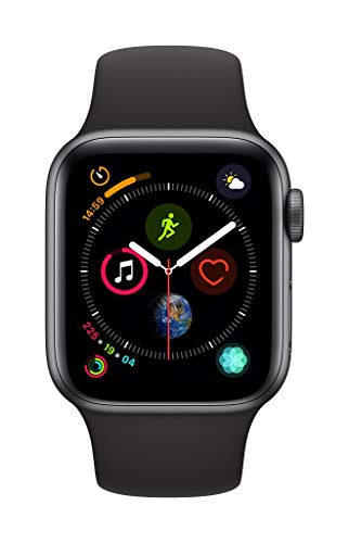 Apple Watch Series 4 (GPS, 40mm) - Space Gray Aluminium Case with Black Sport Band from Apple
