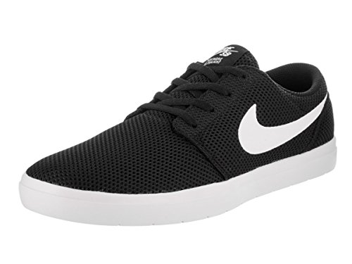 NIKE Men's Sb Portmore II Ultralight Black/White Skate Shoe 9 Men US (Ape Skate)