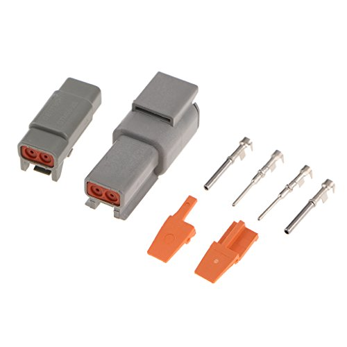D DOLITY 1 Set Car Truck 2Pin Way Sealed Waterproof Wire Connector Plug Terminal Kit: