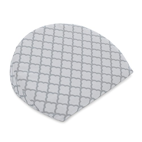 - Boppy Pregnancy Wedge, Scallop Trellis Gray and White, Maternity Wedge with removable jersey cover