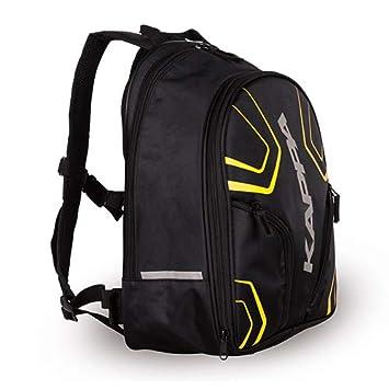 Mochila Blanda Kappa Rucksack 16-20 L, Negra con Letras Amarillas: Amazon.es: Coche y moto