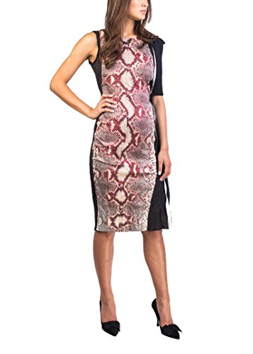 Prada Women's Cotton Metal Blend Reptile Print Dress - Red Prada Dress