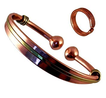 Magnetic Copper & Brass Triple Bracelet MCB054 6pk5I