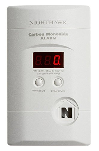 Kidde KN-COPP-3 Nighthawk Plug-In Carbon Monoxide Alarm with Battery Backup and