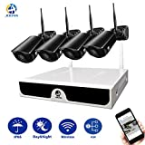 Security System, JOOAN 2.0MP Outdoor Security Camera Wireless 4 x