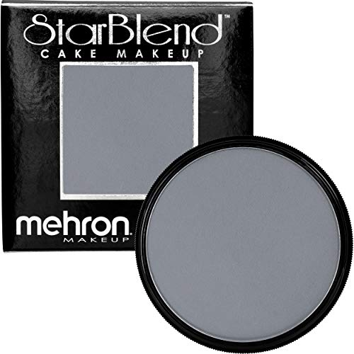 Mehron Makeup StarBlend Cake 2 oz, Monster Grey