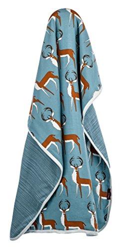 Milkbarn Organic Cotton Stroller Blanket - Blue -