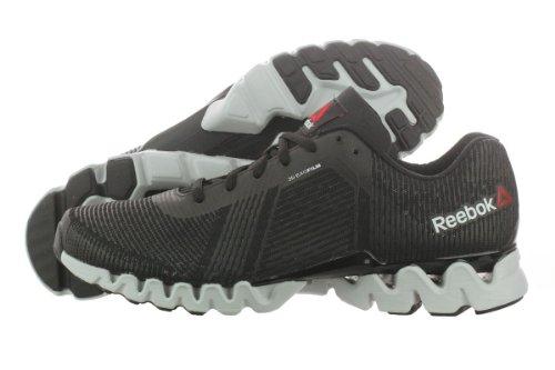 Reebok Men's Zigtech 3.0 Energy Running Shoe,Black/Steel/White/Pure Silver,9 M US