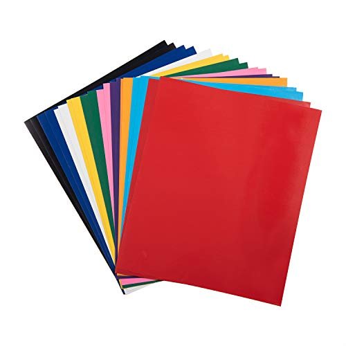 HoneyTolly HTV Vinyl Bundle 10 x 12 - 20 Sheets 10 Assorted Colors, PU HTV Heat Transfer Vinyl by Somolux for Cricut and Silhouette Cameo, Easy to Weed, Iron-On Transfer for DIY T-Shirts & Fabrics