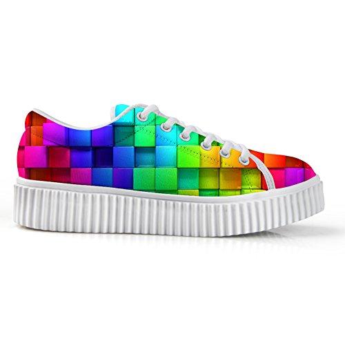 Kramar Idé Mode Blomma Låga Sneakers Kvinnor Plattform Sneakers Konstruktion 1