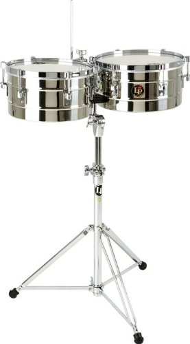 Latin Percussion LP255-S Timbal Stainless Steel by Latin Percussion