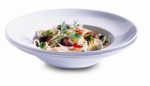 Domestic by Mäser, Serie Orto, Pastateller weiss 26,5cm 2-er Set, stabiles Porzellan ideal für jeden Haushalt