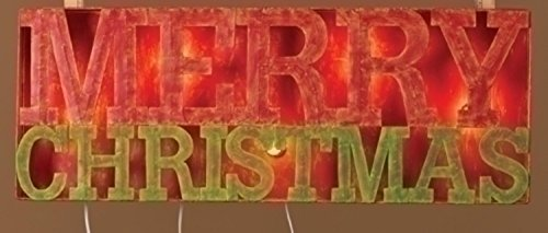 Roman 33'' Lighted Distressed Merry Christmas Outdoor Decoration Sign by Roman
