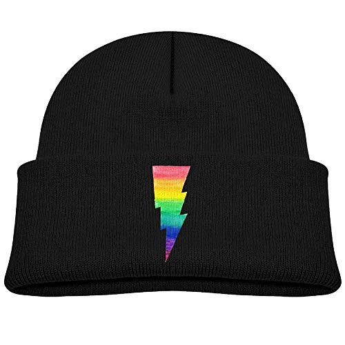 Knitted Hats Rainbow Lightning Bolt Toddler Beanies Caps Unisex Baby Warm