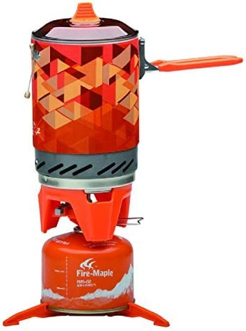 Fire-Maple Star FMS-X2 Outdoor Cooking System Portable Camp Stove with Piezo Ignition Pot Support Stand – Ultralight Compact Windproof High Heating Efficiency – Propane Butane Canisters – Camping