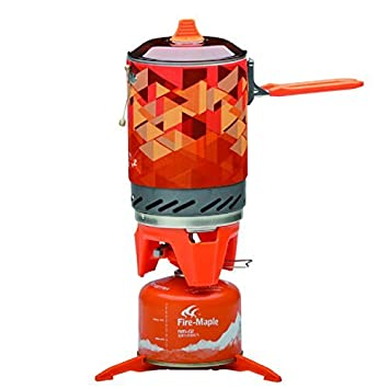 Fire-Maple Star FMS-X2 Outdoor Cooking System Portable Camp Stove with Piezo Ignition Pot Support & Stand - Ultralight Compact Windproof High Heating ...