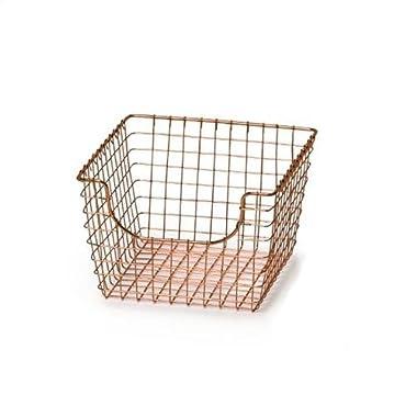 Spectrum Diversified Scoop Storage Basket, Medium, Copper