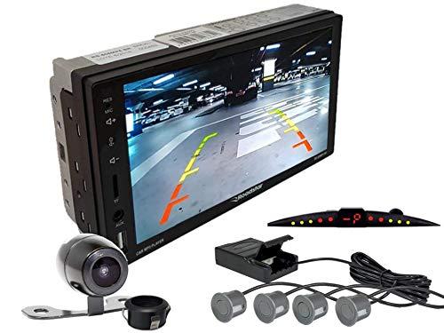 Multimidia Mp5 RS-505MP5 Com Câmera De Ré RS-121BR E Sensor De Estacionamento RS-204BR CINZA
