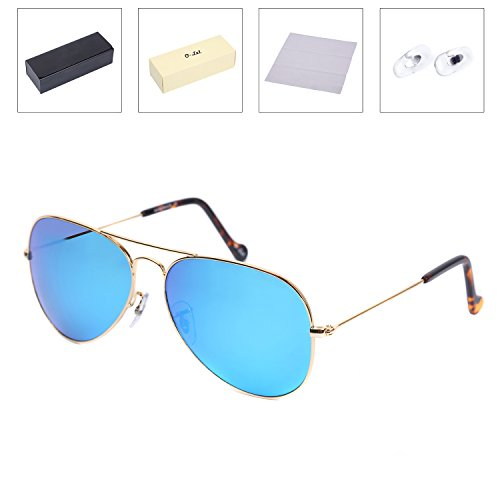 O-LET Polarized Aviator Sunglasses for Women/Men Cycling/Fishing with Glass Polarized Lens, - Aviator Online