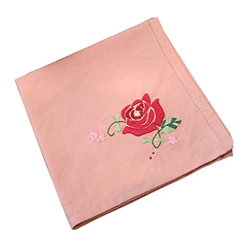Embroidery Handkerchiefs Chinese (DRAGON SONIC Chinese Style DIY Embroidery Handkerchief Kit (Rose Pattern))