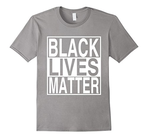 Men's Black Lives Matter Is About Race Unity No To Racism T-shirt Large Slate