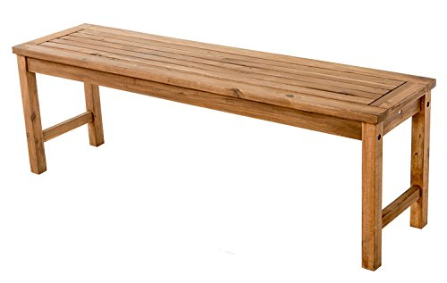 Offex Solid Acacia Hardwood Outdoor Patio Bench - ()