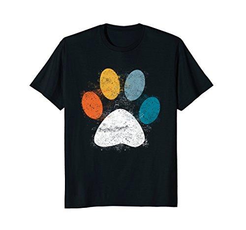 Vintage Dog T-Shirt Puppy Dog Paw Print Dog Love Pet Paw