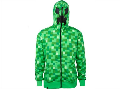 Minecraft Creeper Premium Zip-up Hoodie (XL)]()