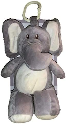 Kelly Baby Elephant Rattle with Clip-On Pram Grey