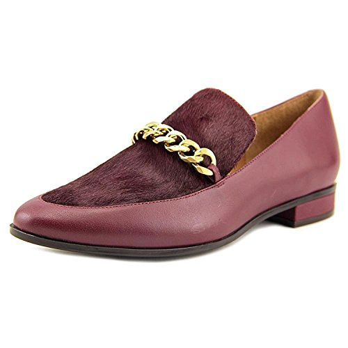 Calvin Klein Womens Fanna Closed Toe Loafers, Cabernet, Size 7.0