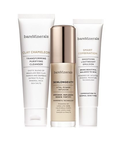 (bareMinerals 3-Piece Skinsorials Purify Empower Moisturize for Normal to Combination Skin Set )