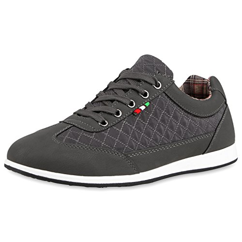 Sneaker Herren Low Grau Gesteppt SCARPE VITA Gesteppt qRE4wp