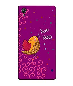 ColorKing Sony Xperia Z1 Case Shell Cover - Bird Kookoo Multi Color